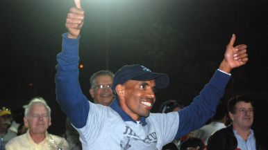 Boston Marathon winner Meb Keflezighi was recognized.