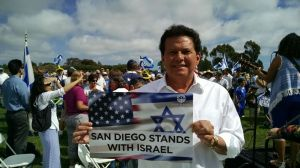 State Sen. Marty Block shows his support for Israel. Photo by Chris Jennewein