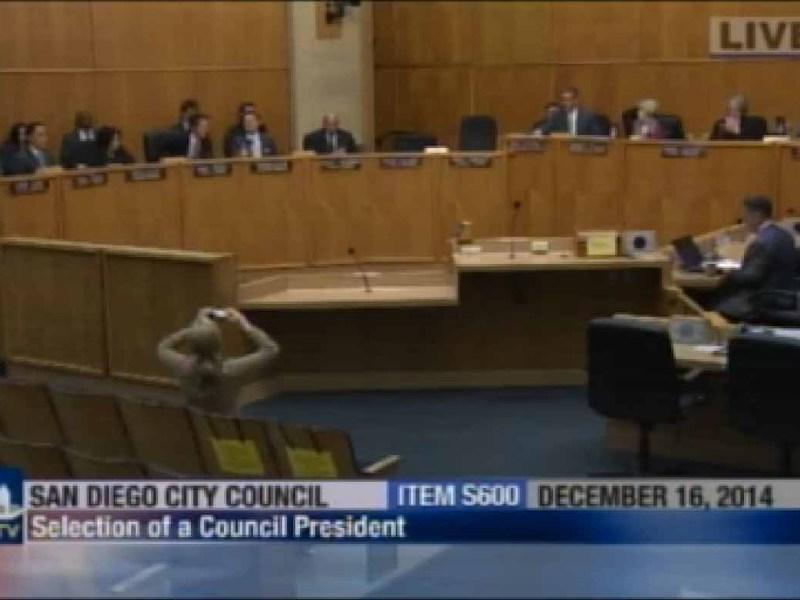 San Diego City Council president vote 12-16-14