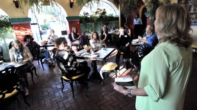 The San Diego Press Club took over a patio of Casa Guadalajara in Old Town.