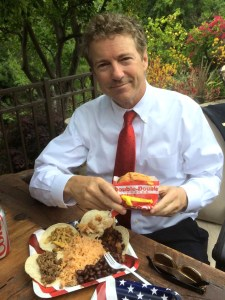 Sen. Rand Paul's Facebook page carried this photo Friday before appearance at Orange County GOP event.
