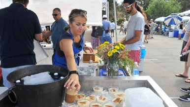 Rice frappes were among the traditional treats at the festival. Photo by Chris Stone