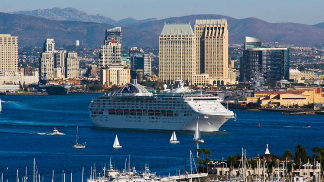 Cruise ship departs San Diego