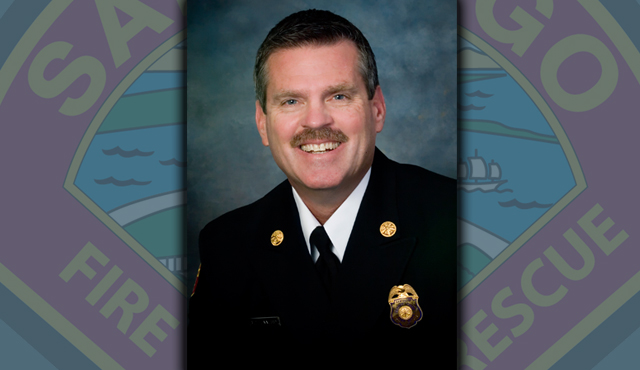 Outgoing San Diego Fire Chief Brian Fennessy.