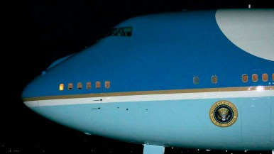 Air Force One brings President Barack Obama to San Diego for a short rest. Photo by Chris Stone
