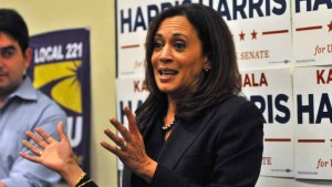 California Attorney General Kamala Harris campaigns for U.S. Senate at a union headquarters in San Diego. Photo by Chris Stone
