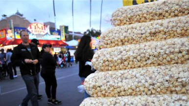 Kettle corn is a popular snack at the fair. Photo by Chris Stone