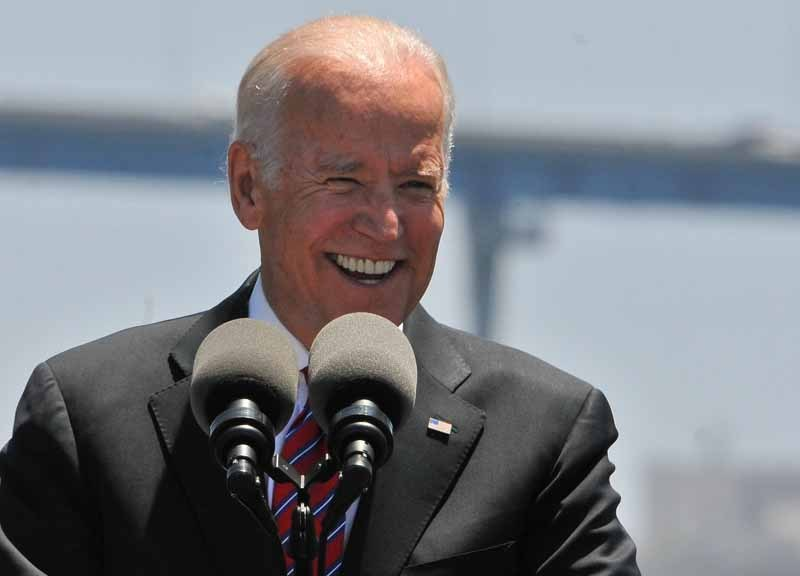 Joe Biden speaks at the Port of San Diego