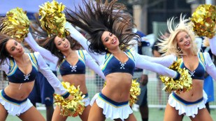 Charger Girls perform at NFL Boot Camp at Marine Corps Air Station Miramar. Photo by Chris Stone