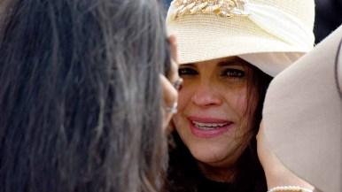 Ramona Vargas spends three precious minutes looking into the face of her daughter, Delia Valdovinos-Sanchez. Photo by Chris Stone