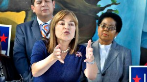Rep. Loretta Sanchez appeals for Hispanic votes, saying polls showing her trailing don't take into account undecided voters. Photo by Ken Stone