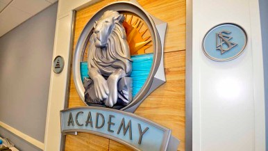 Room for auditor trainees is called the Academy. This room had space for 80 students. Photo by Ken Stone