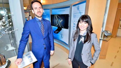 Married Scientology reps Nick and Erin Banks work out of Los Angeles. Photo by Ken Stone