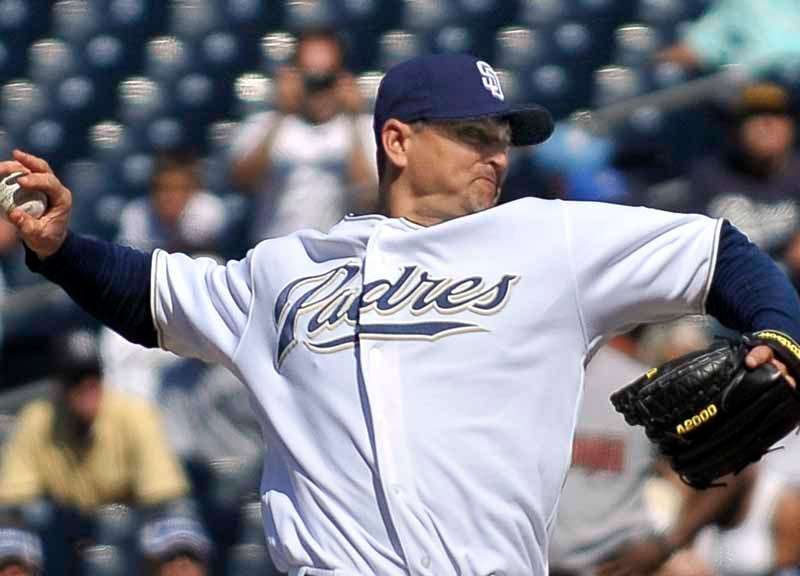 Trevor Hoffman, pitching for the San Diego Padres