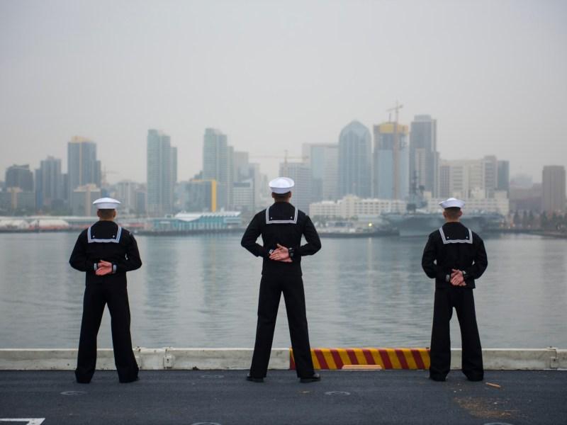 USS Carl Vinson departs San Diego