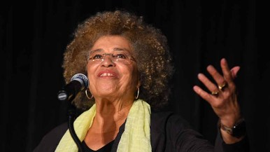 Angela Davis called for the abolition of the education and prison systems. Photo by Chris Stone