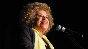 """Angela Davis said """"no human is illegal"""" during Southwestern College talk. Photo by Chris Stone"""