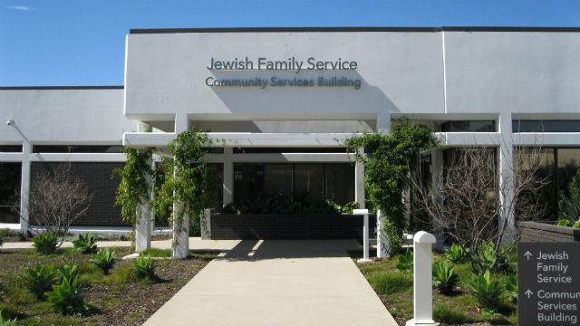 A Jewish Family Service building in Kearny Meas