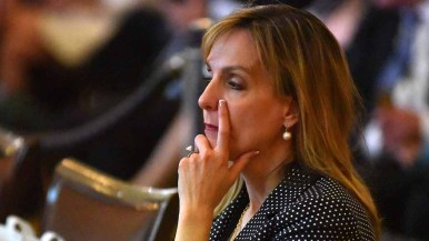 Anne-Marie Lampropolous of Utah fights to stay focused at RNC Rules Committee meeting. Photo by Ken Stone