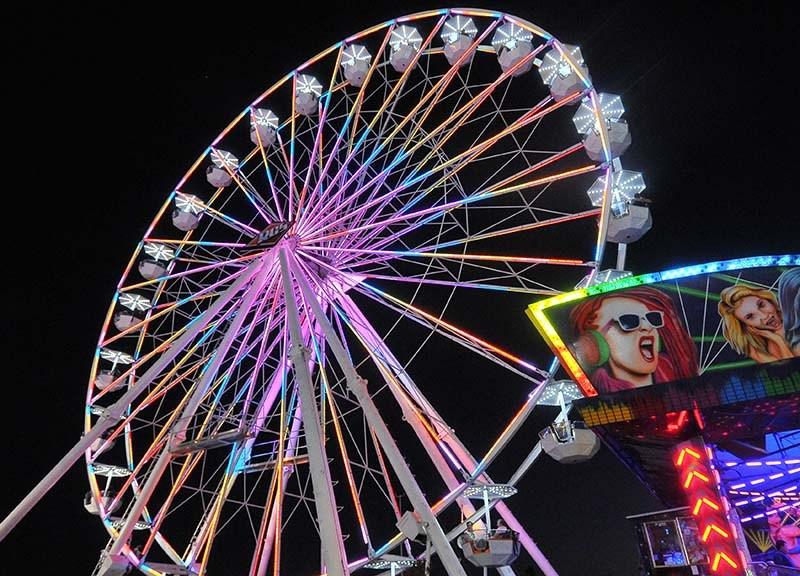 San Diego County Fair at night