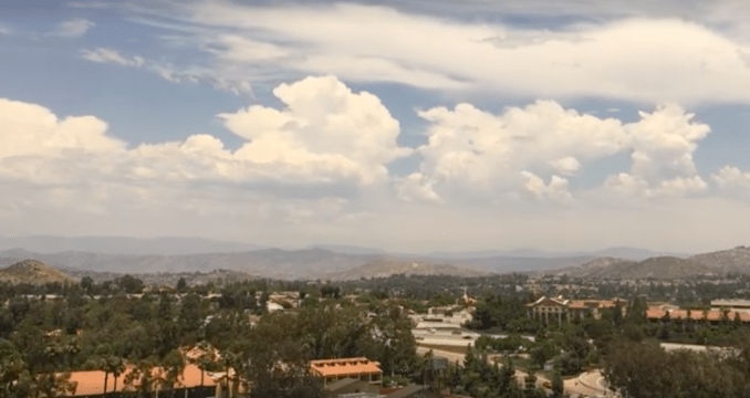 A thunderhead over San Diego