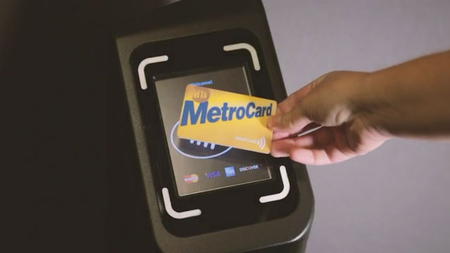 MTA MetroCard with Cubic equipment