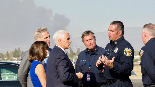 Vice President meets with Orange County firefighters
