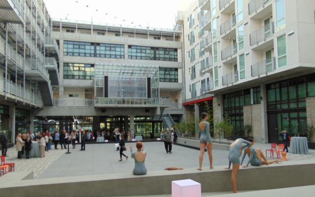 Dancers in the buildings courtyard