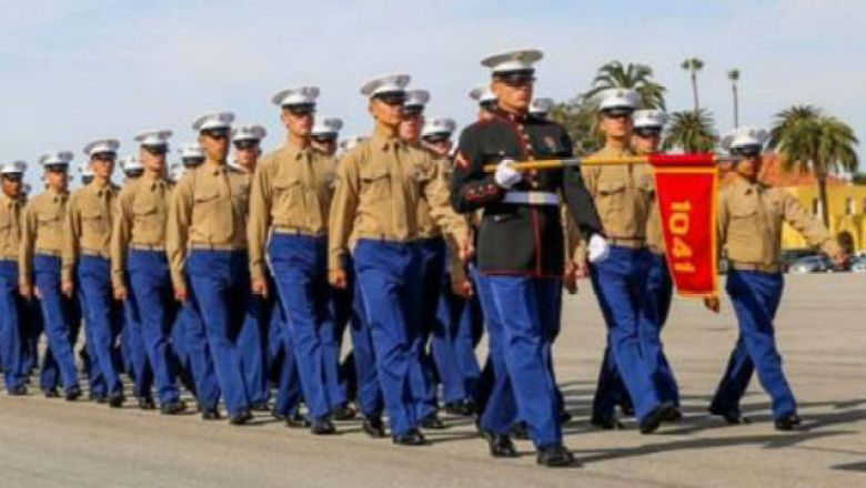 Graduation at Marine Corps Recruit Depot San Diego