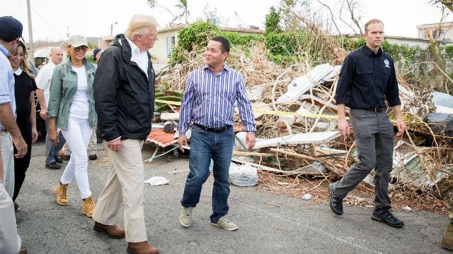 President Trump in Puerto Rico