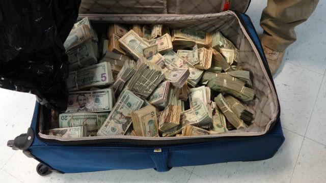 Seized drug cash