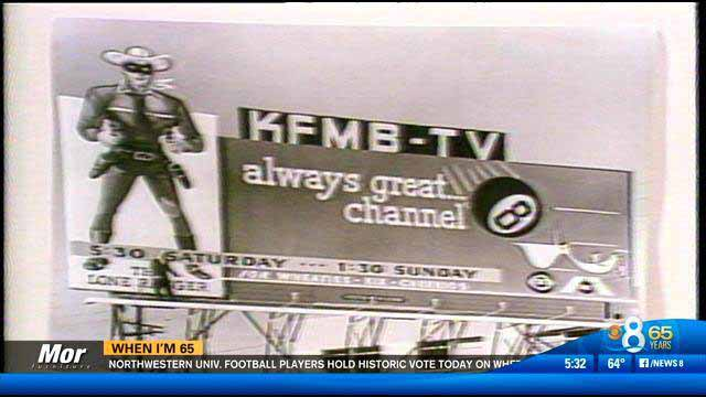 """""""The Lone Ranger,"""" which aired on KFMB-TV, was used in a billboard promotion."""