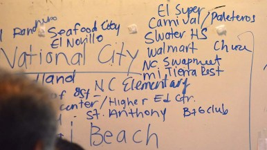 Groups listed places where they could distribute Rapid Response Network information. P