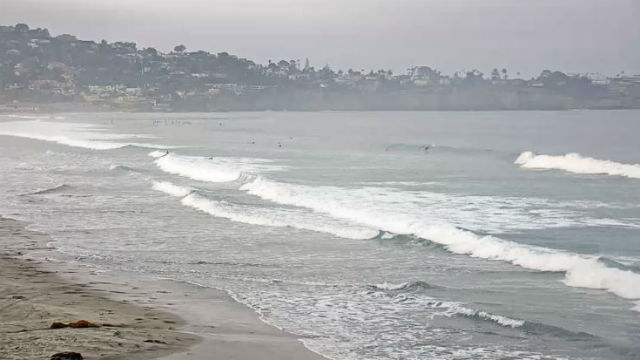 Surf near Scripps Pier