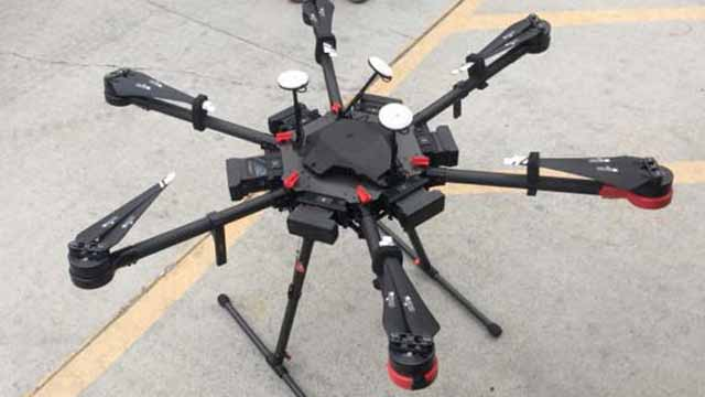Drone used to fly 12 packets of meth over border into the United States.