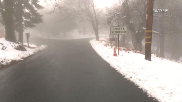 Palomar Mountain snow