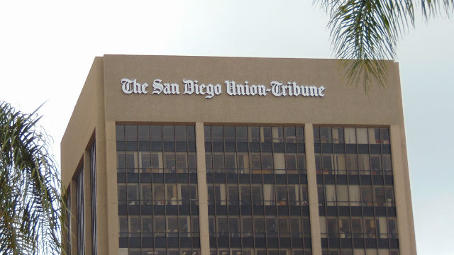 Union-Tribune sign on building