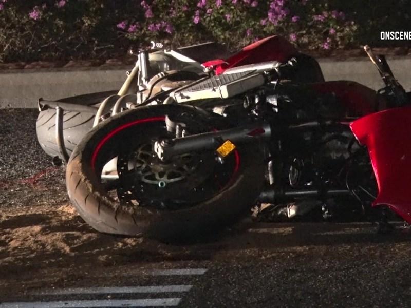 Motorcycle crash San Marcos