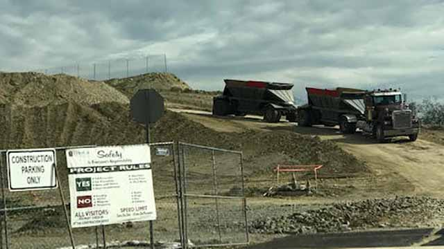 Grading continues at Mt. SAC despite preliminary injunction, says United Walnut Taxpayers, which supplied this photo taken March 26, 2018.