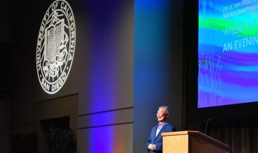 Actor-activist George Takei spoke at the Price Center at UC San Diego.