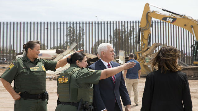 Mike Pence in Calexico