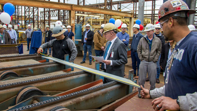 Ceremonial cutting of steel