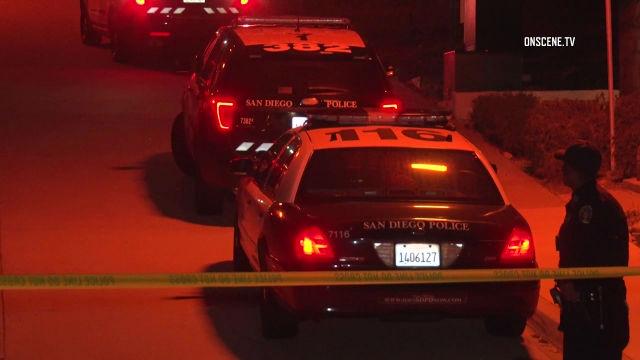 Police cars at crime scene