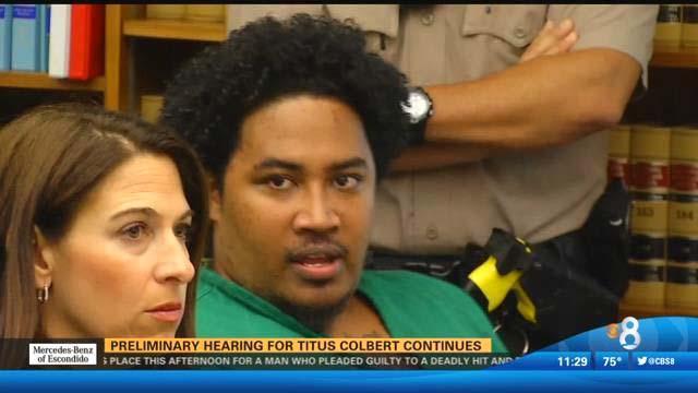 Titus Colbert at his preliminary hearing.