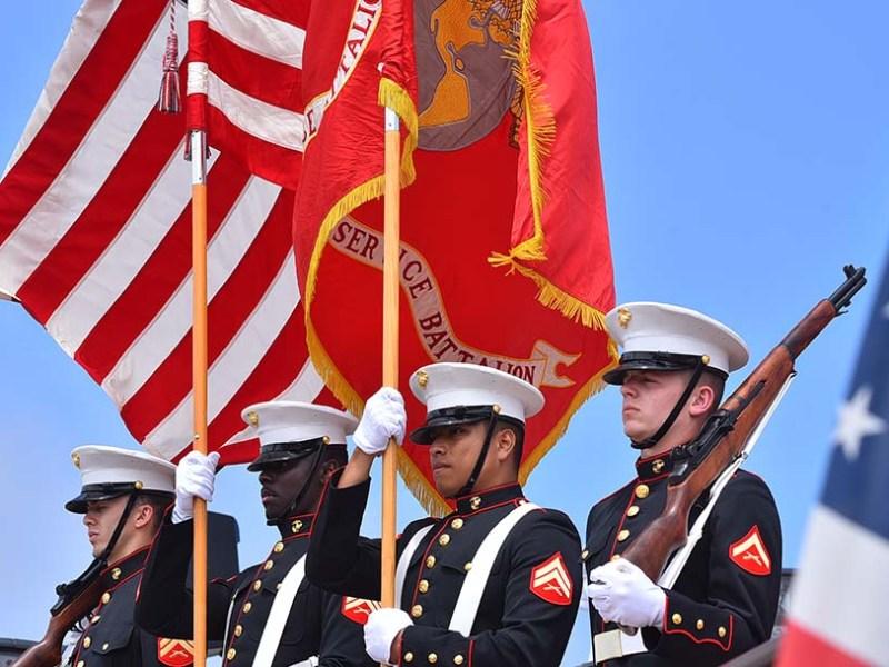 Marine Color Guard presented the colors at Mt. Soledad National Veterans Memorial.