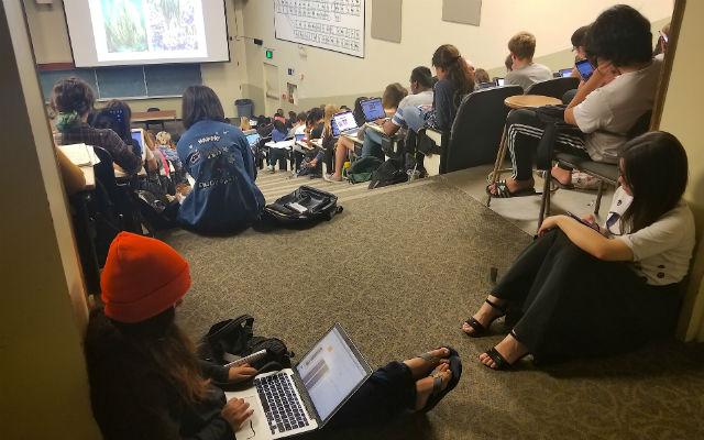 Overcrowded classroom