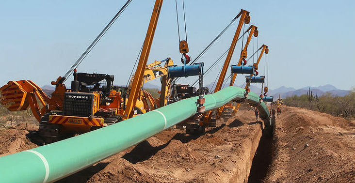 Natural gas pipeline under constrution
