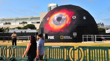 National Geographic's Cosmos opens on Thursday behind the convention Center.