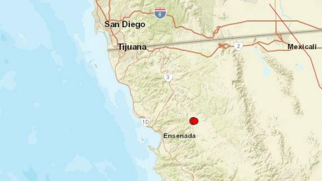 Earthquake locations near Ensenada