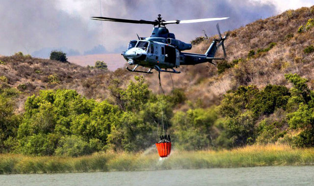 Marine firefighting helicopter